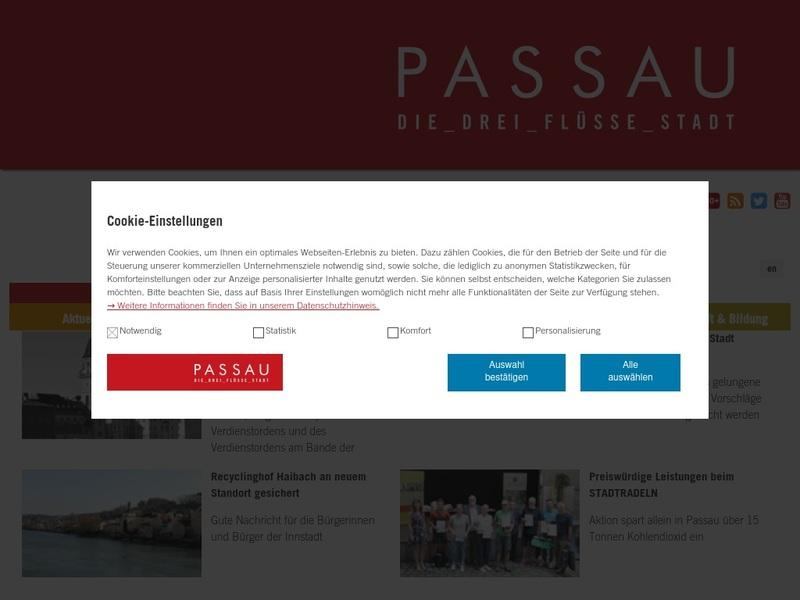 Screenshot von www.passau.de